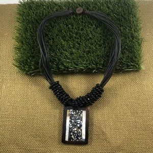 Jewelry - Tortoise Shell with pearl accents Necklace